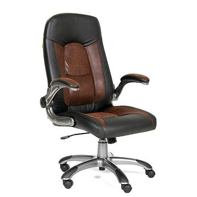 Офисное кресло Chairman 439 (PU черный/MF коричневый)