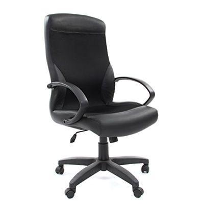 Офисное кресло Chairman 310 экокожа/ткань (PU черный/TW11)