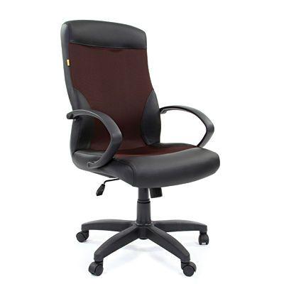 Офисное кресло Chairman 310 экокожа/ткань (PU черный/TW2012)