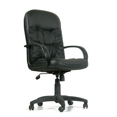 Офисное кресло Chairman 416 кожа (черный)