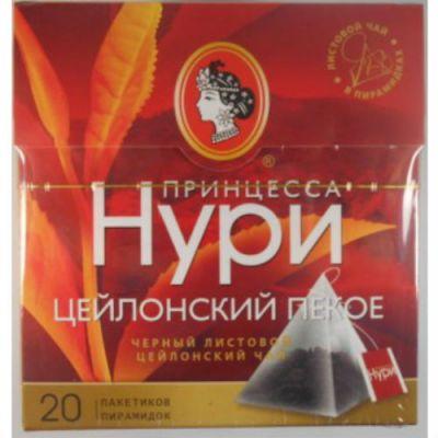 Чай Принцесса Нури Цейлонский Пекое (1,8гх20п) чай пирам.черн. 0941-18