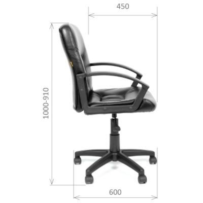 Офисное кресло Chairman 651 (черный) кожа