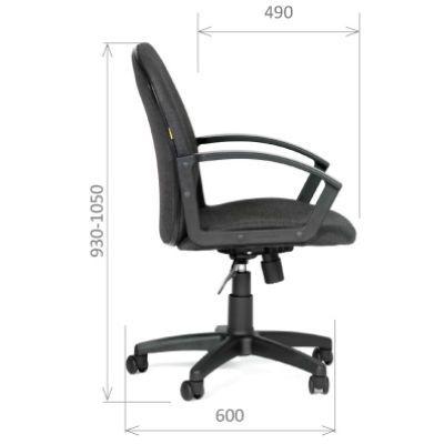 Офисное кресло Chairman 681 (черный) Ткань C-3