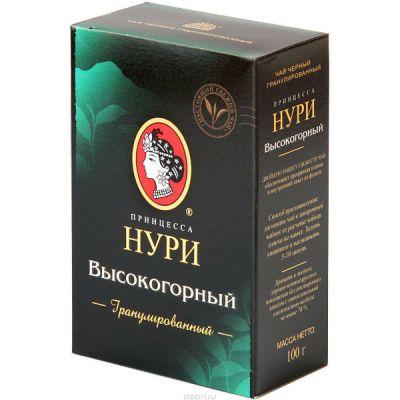 Чай Принцесса Нури Высокогорный 100г.чай гран.черн. 0288-84