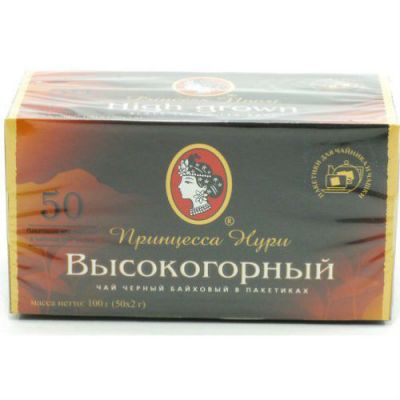 Чай Принцесса Нури Высокогорный (2гх50п) чай пак.б/я черн. 0291-48