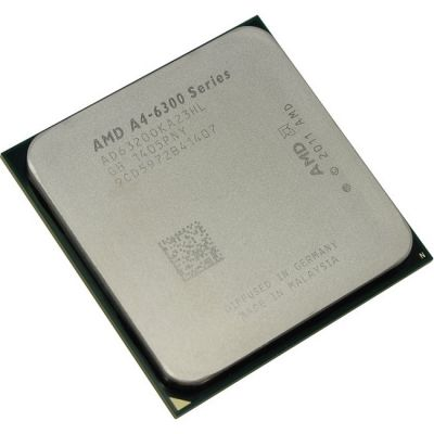 Процессор AMD A4 X2 6320 Socket-FM2 (3.8/5000/1Mb/Radeon HD 8370D) Box AD6320OKHLBOX