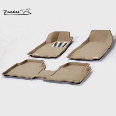 Pradar Коврики салона текст.Nissan Teana 2008-2013 3D Pradar с бортиком бежевые (с металлическим подпятником) SI 09-00216