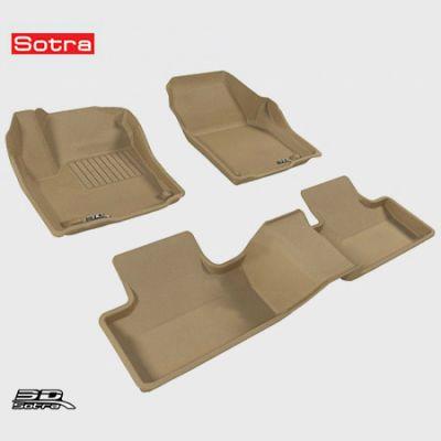 Коврики в салон Sotra текст.Land Rover Range Rover Evoque 3D 2012-> LINER 3D Lux с бортиком бежевые ST 74-00022