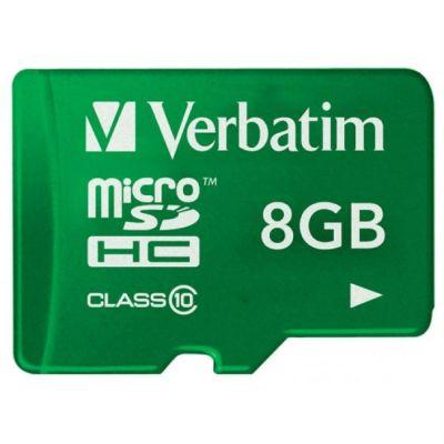 Карта памяти Verbatim 8GB microSDHC Class 10 UHS-I (SD адаптер) 44042