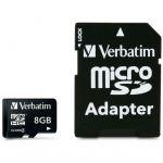 Карта памяти Verbatim 8GB microSDHC Class 4 (SD адаптер) 43967