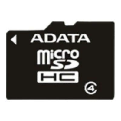 Карта памяти ADATA 16GB microSDHC Class 4 (SD адаптер) AUSDH16GCL4-RA1