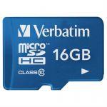 Карта памяти Verbatim 16GB microSDHC Class 10 UHS-I (SD адаптер) 44043