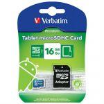 ����� ������ Verbatim 16GB microSDHC Class 10 UHS-I (SD �������) 44043