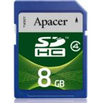 ����� ������ Apacer 8GB SDHC Class 4 AP8GSDHC4-R