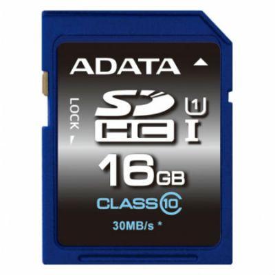 ����� ������ ADATA 16GB SDHC Class 10 UHS-I ASDH16GUICL10-R