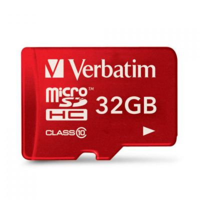 Карта памяти Verbatim 32GB microSDHC Class 10 UHS-I (SD адаптер) 44044