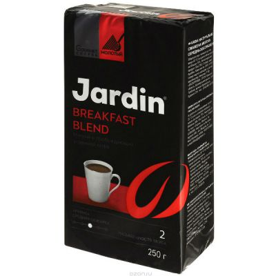 Кофе Jardin Брекфаст Бленд 250г.кофе мол.жар.прем/с. 1002-26