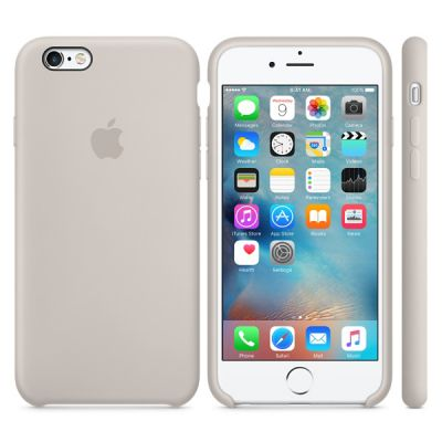 Чехол Apple iPhone 6/6s Silicone Case - Stone MKY42ZM/A