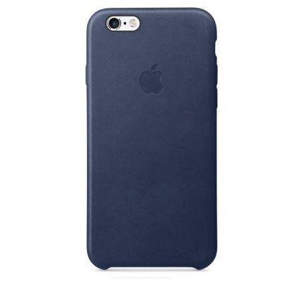 Чехол Apple для iPhone 6s Leather Case - Midnight Blue MKXU2ZM/A