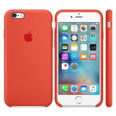 ����� Apple iPhone 6/6s Silicone Case - Orange MKY62ZM/A