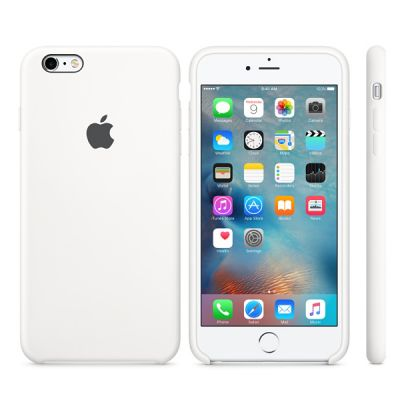 Чехол Apple iPhone 6 Plus/6s Plus Silicone Case - White MKXK2ZM/A