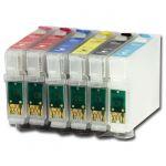 Расходный материал Совместимый Набор перезаправляемых картриджей с чернилами для Epson Stylus Photo T50, 1410, R270, TX650, R290, RX610, R390, RX690, R295, RX590, T59, TX659, RX615, TX710W, TX800FW, TX700W, RX650, TX810, RX659
