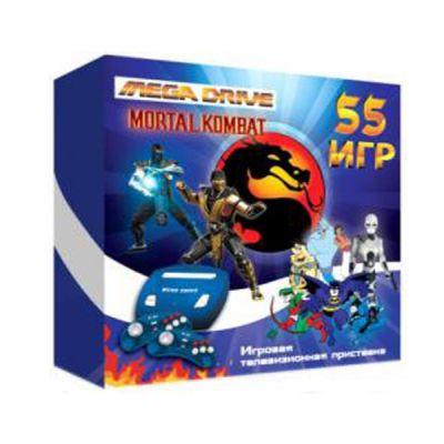 "������� ��������� SEGA 55 ��� (�����., 2 ��., AV-������, �����.) MegaDrive ""Mortal Kombat"""