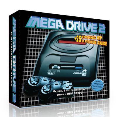 Игровая приставка SEGA 25 игр (прист., 2 дж., AV-каб., адапт.) MegaDrive MegaDrive 2