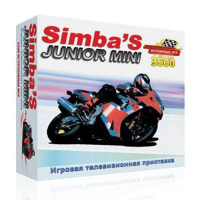 Игровая приставка Dendy 3500 игр (прист., 2 дж., каб. AV, адапт.) SimbaS Simbas Junior mini