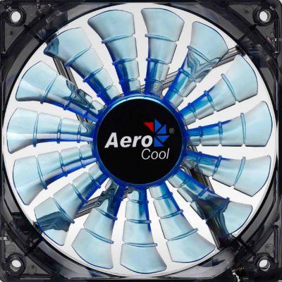 "Вентилятор Aerocool Shark 14см ""Blue Edition"" (синяя подсветка)"