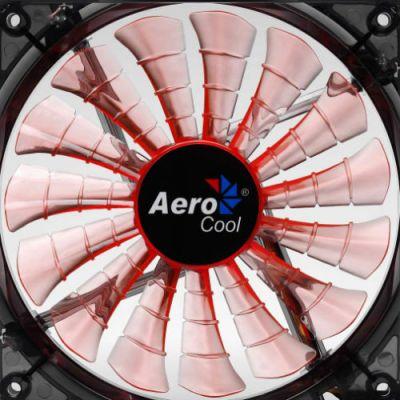 "Вентилятор Aerocool Shark 14см ""Evil Black Edition"" (оранж. подсветка)"