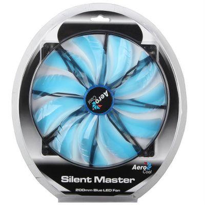 """Вентилятор Aerocool Silent Master 20см """"Blue LED"""" (синяя подсветка)"""