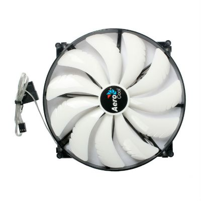 "Вентилятор Aerocool Silent Master 20см ""White LED"" (белая подсветка)"