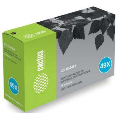 Картридж Совместимый (CS-Q5949X) CS-Q5949X CACTUS для принтеров HP LaserJet 1320/ 3390/ 3392, 6000 стр.