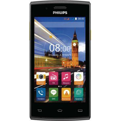 Смартфон Philips Xenium S307 3G черный/желтый 867000131442