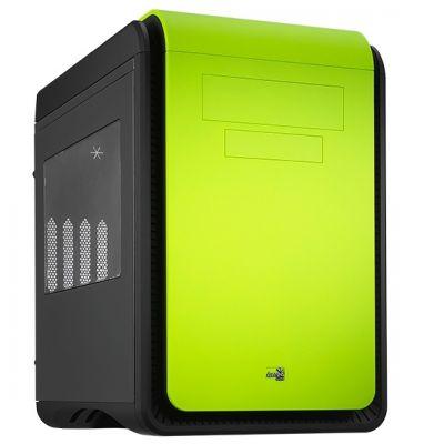 Корпус Aerocool DS Cube Window Green (зеленый, с окном)