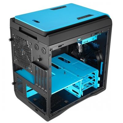 Корпус Aerocool DS Cube Window Blue (синий, с окном)
