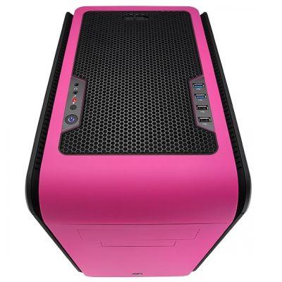 Корпус Aerocool DS Cube Window Pink (розовый, с окном)