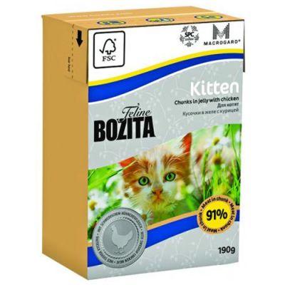 Консервы Bozita для котят и беременных кошек кусочки в желе с Курицей 190г