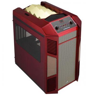 Корпус Aerocool XPredator Cube Red/gold Edition (красно-золотой)