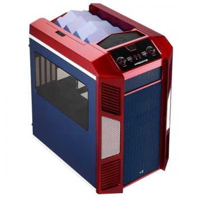 Корпус Aerocool XPredator Cube Red/blue Edition (красный/синий)