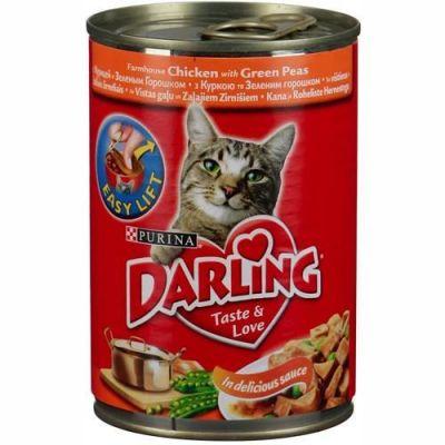 Консервы Darling для кошек курица/горох 400г (упак. 24 шт) (12071495)