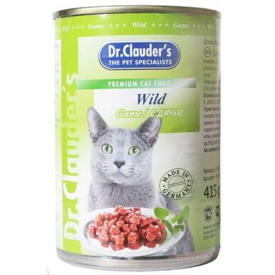 Консервы Dr. Clauders для кошек с Дичью 415г (11405)