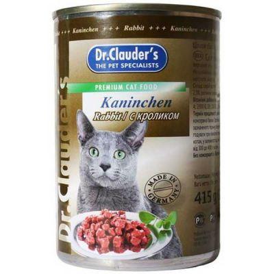 Консервы Dr. Clauders для кошек с Кроликом 415г (11443)