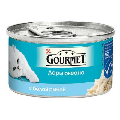 Консервы Gourmet Дары океана для кошек кусочки в соусе Белая рыба 85г (упак. 12 шт) (12263690)