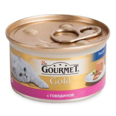 Консервы Gourmet Gold для кошек паштет Говядина 85г (упак. 24 шт) (12215249)