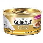 Консервы Gourmet Gold для кошек Дуо утка/индейка 85г (упак. 24 шт) (12032394)