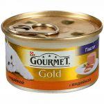 Консервы Gourmet Gold для кошек паштет Индейка 85г (упак. 24 шт) (12032392)