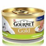 Консервы Gourmet Gold для кошек паштет с кроликом 85г (упак. 24 шт) (12182548)