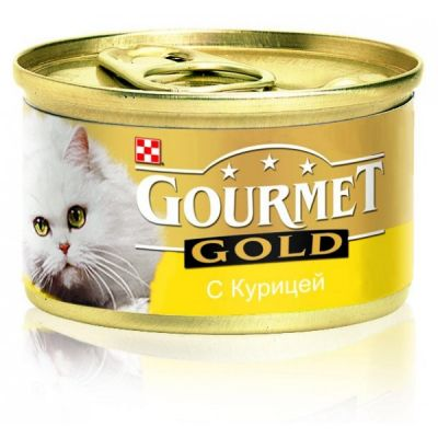 Консервы Gourmet Gold для кошек паштет Курица 85г (упак. 24шт) (12032582)